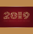 ornamental numbers of year vector image