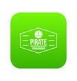 pirate treasures icon green vector image vector image