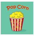 pop corn icon vector image vector image