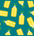 realistic detailed 3d vegetable oil plastic bottle vector image vector image