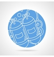 Round icon for aqualung vector image vector image