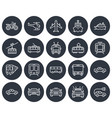 round icons set some transport facilities line vector image vector image
