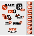 Sale and discount set of vintage labels vector image