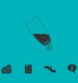 salt icon flat vector image vector image
