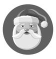 Santa Claus icon gray monochrome style vector image vector image
