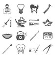 set dental services icons vector image vector image