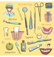 Set Dentist and Tooth Care Icons vector image