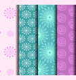sets patterns pink blue vector image vector image