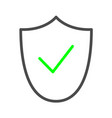 shield and check mark icon outline logo vector image