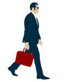 silhouette businessman man in suit with tie with vector image