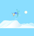 skier over the springboard vector image vector image