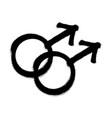 sprayed male logo man symbol gender symbol vector image vector image