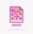 strategy thin line icon iilustration vector image