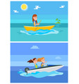 summer hobby and sport set vector image vector image