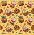 sweets and berries pattern vector image