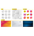 technical algorithm agent and finance icons vector image vector image