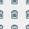 trash icon sign Seamless pattern with geometric vector image vector image