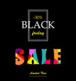 vertical banner with text sale black friday vector image