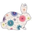 vintage rabbit vector image vector image