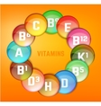 Vitamins Set Image vector image