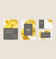 watercolor wedding floral invitation save vector image vector image