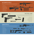 Weapons And Guns Horizontal Banners vector image vector image