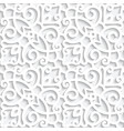 white lace pattern with cutout paper swirls vector image vector image
