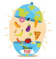 world food day dish cloche shaped earth vector image vector image