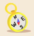 yellow compass cartoon vector image