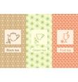 Set linear tea package ornamental vector image