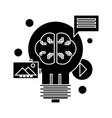 content marketing icon sig vector image