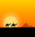 Hot African Scenery vector image