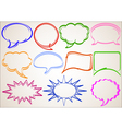 multicolor hand-drawn talking bubbles comic book s vector image
