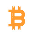 simple bitcoin logo like crypto currency vector image