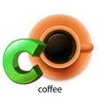 A letter C for coffee vector image vector image