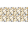 abstract polka dot pattern with gold glitter vector image vector image