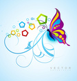 artistic butterfly background vector image vector image