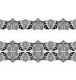 black lace borders vector image vector image