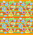 Bright summer pattern with flippers vector image