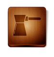 brown coffee turk icon isolated on white vector image vector image