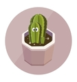 Cactus cute character vector image