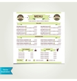Cafe menu template design