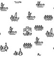 canoeing seamless pattern vector image vector image