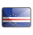 cape verde flag on white background vector image vector image