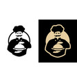 chef logo on a dark and light background vector image