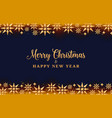 christmas background with gold crystal stars vector image vector image