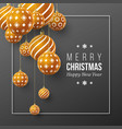 christmas brown baubles with geometric pattern 3d vector image