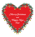 Christmas Ornamental Heart vector image vector image