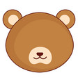 cute and tender bear head character vector image vector image