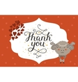 Cute animal card vector image vector image